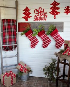 The Creek Line House: My Festive Red Christmas Mud Room