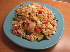 Mau!kas ruokablogi: Kinkku-riisisalaatti