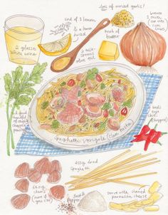 illustrated by dawn tan. {a variation of this for dinner tonight}