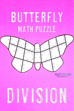 Use this fun butterfly puzzle to help your 3rd, 4th, and 5th grade upper elementary classroom or home school students master their basic division math facts. With a hands-on approach this is sure to be a hit for your centers, stations, early or fast finishers, test prep, review, and more. Dividing will be a breeze with this spring activity. Great for hands on learners, GATE, or to add artwork into your day. {third, fourth, fifth graders, worksheet alternative, coloring page printable}