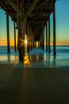 Sunrise at Ocean City Fishing Pier, Maryland, USA. I have recently fallen deeply inlove with the ocean Maryland, Ocean City Md, Vacation Destinations, Vacations, Vacation Spots, Belle Photo, Beautiful Beaches, Beautiful Sunset, Beautiful World