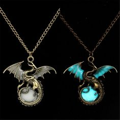 Retro Dragon Glow in the Dark necklace Jewelry League of legends Ancient Dragon Pendants & Necklaces Mens Punk Dragon Necklace Price: USD Cute Jewelry, Jewelry Gifts, Jewelery, Jewelry Accessories, Dragon Necklace, Dragon Jewelry, Silver Necklaces, Silver Pendant Necklace, Jewelry Necklaces