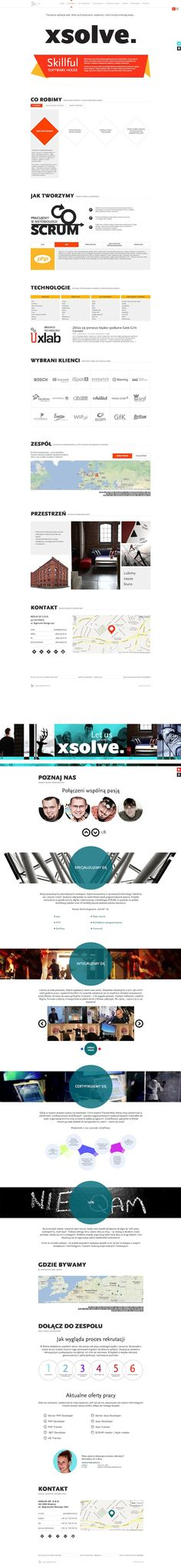 XSolve Software House www.xsolve.pl full website with team presentation.  Author: Chilid    Responsive Web Design