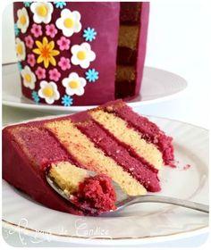 Gâteau vanille framboise
