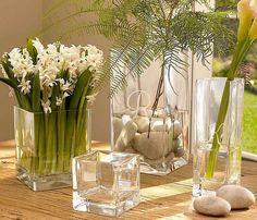 En la decoracion de interiores vamos a ver ideas de como decorar un florero de vidrio, para realizar jarrones decorativos grandes con flores, hojas secas