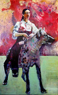 Riding the beast  150 x 100 cm   Acryl auf Malgrund   2013