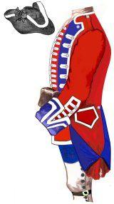 3rd Regiment of Foot Guards. Uniform in 1757 - Source: Frédéric Aubert