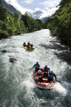 White water rafting.