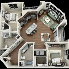 Your Guide to 4 bedroom apartments macon ga for your home haus Are You Making The 4 Bedroom Design Mistakes That Keep Decorators Up At Night? Sims House Plans, House Floor Plans, Apartment Floor Plans, Simple Floor Plans, Sims 4 House Building, Small House Plans, Amazing Architecture, Architecture Design, Plans Architecture