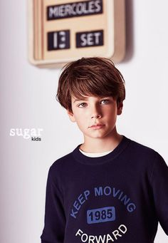 """Adrian from Sugar Kids for Massimo Dutti """"Back to School"""" collection."""