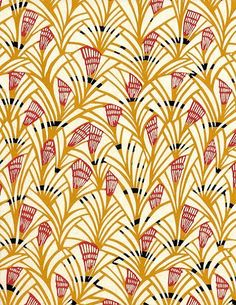 Japanese Katazome Paper (yellow)  This paper is decorated with a precise and quite laborious process, which is a combination of stenciling and resist dyeing.  via patternatic