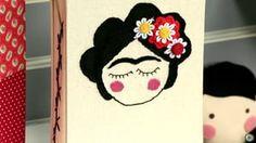 Caderno Frida Kahlo com Costura Lattice Variada 1 de 3