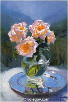 ROSES, painting,