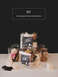 DIY Gourmet S'more Favors for wedding reception #dpwg  PIN: http://greenweddingshoes.com/diy-gourmet-smore-favors/
