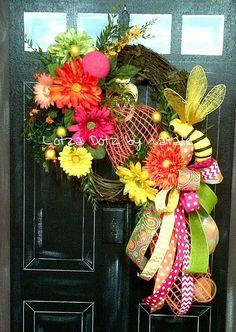 Spring/Summer Wreath www.facebook.com/lotzadotzbynatalie