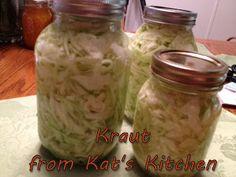 Kat's Canning Tidbits: SIMPLE SAUERKRAUT