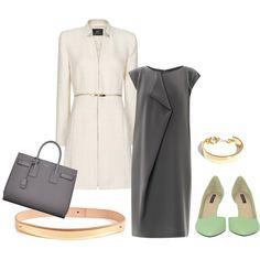 Inspirado por Olivia Pope | Charcoal & Metal by rissa-thomas. Me gusta mucho el vestido, es muy original y sencillo, me recuerda al diseño japonés (origami).