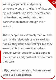 From http://www.buzzle.com/articles/istj-relationship-compatibility-with-other-personality-types.html