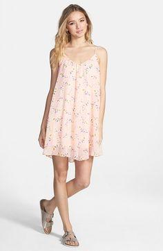 Lush Print Trapeze Dress