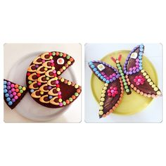 I present to you my recipe for easily making a fish cake or a . - I present to you my recipe for easily making a fish cake or a butterfly cake for your kids! My Recipes, Cake Recipes, Colorful Birthday Cake, Butterfly Cakes, Sweet Cakes, Cake Art, Happy Day, Food Art, Kids Meals