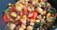 Black Bean and Barley Salad With Cilantro Lime Dressing