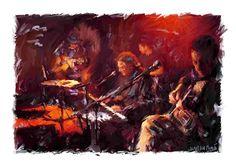 Musicians 4-Painting- James Scott Fleming