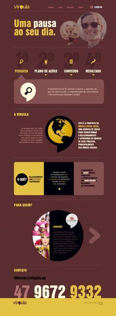 Unique Web Design, Virgula @voyover #WebDesign #Design (http://www.pinterest.com/aldenchong/)
