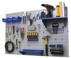 Pegboard Organizer Wall Control 4 ft. Metal Pegboard Standard Tool Storage Kit with Gray Toolboard and Blue Accessories by Wall Control, http://www.amazon.com/dp/B00BHZL0A6/ref=cm_sw_r_pi_dp_Kg9irb1B3TFF0