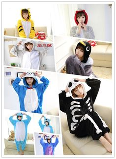 NEW Unisex Animal Adult Onesies Kigurumi Pyjamas Pajama Sleepsuit Costume Suit #Unbranded #CompleteOutfit