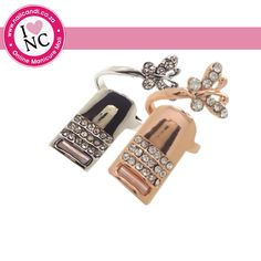 Nail Ring with Butterfly Detail available in gold and silver
