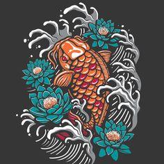 Koi fish digital artwork