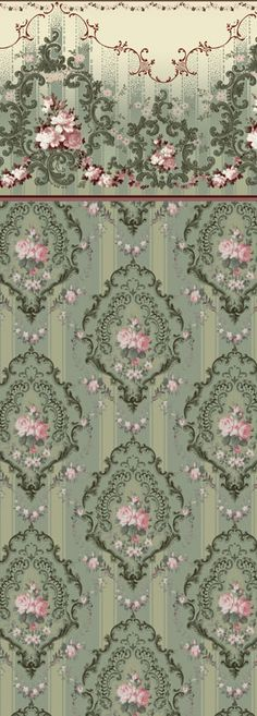 Rococo Rose - Historic Wallpapers - Victorian Arts - Victorial Crafts… More Rococo Rose - Historic Wallpapers - Victorian Arts - Victorial Crafts… Arts And Crafts Movement, Vintage Scrapbook, Scrapbook Paper, Molduras Vintage, Victorian Wallpaper, Vintage Style Wallpaper, Victorian Decor, Victorian Crafts, Rococo Style
