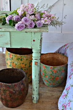 paper mache, basket or planters, which ever, I'm going to try to make some