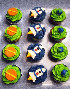 Spaceships and Planet Cupcakes by CarolinesCreations, via Flickr