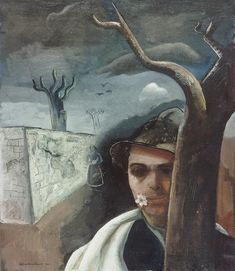 Felix Nussbaum - Self Portrait with Apple Blossom, 1939
