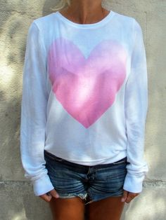 Wildfox Couture heart sweatshirt