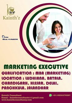 """""""Make you #Marketing so useful people would pay you for it"""" if you think you are well versed about  your marketing skills & can acheive targets given you. Get chance here Fresher Marketing Graduates Apply here:- Kainthconsultants1@gmail.com Click here:- www.kainthconsultancy.com"""