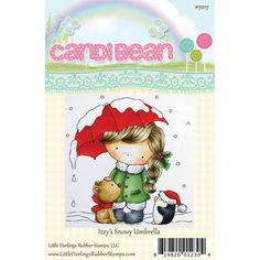 Little Darlings Candibean Unmounted Rubber Stamp Izzy's Snowy Umbrella