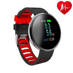 Blood Pressure Bracelet Fitness Tracker - Homestec I10X Colourful Screen Smart Watch with SPO2H Heart rate monitor Sleeping Management Pedometer with OLED Touch Screen for Android iOS (Black-Red) #Blood #Pressure #Bracelet #Fitness #Tracker #Homestec #Colourful #Screen #Smart #Watch #with #SPOH #Heart #rate #monitor #Sleeping #Management #Pedometer #OLED #Touch #Android #(Black #Red)