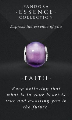 Express the essence of you. #PANDORAessencecollection #PANDORAcharm #Faith