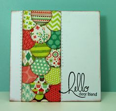 what a great way to use up scraps...cute idea for a card!