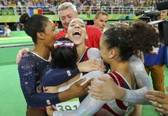 Unstoppable U. Women's Gymnastics Team Takes Gold In Rio Team Usa Gymnastics, Gymnastics Facts, Gymnastics Images, Artistic Gymnastics, Gymnastics History, Basketball Court Size, Team Usa Basketball, Basketball Quotes, Women's Basketball