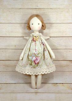 Princess Tilda angel,Christmas fairy doll, Textile doll, T Christmas Fairy, Christmas Angels, Fabric Toys, Fabric Crafts, Doll Painting, Sewing Dolls, Fairy Dolls, Soft Dolls, Handmade Toys
