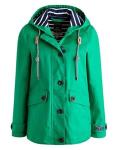 Joules Coast Red Waterproof Jacket with striped lining | Fashion ...