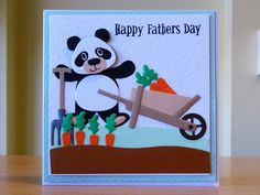 Father's Day Card - Marianne Collectables Panda & Farm Dies. To purchase my cards please visit CraftyCardStudio on Etsy.com.