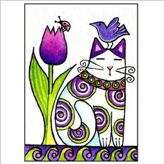 whimsical cat art - Google Search