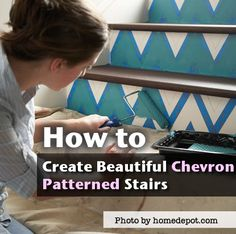 How To Create Beautiful Chevron Patterned Stairs