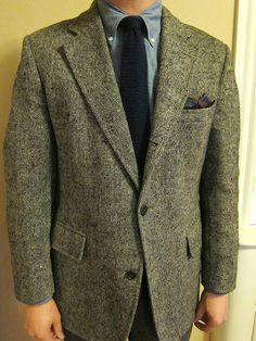 Brooks Donegal tweed, Kamakura chambray shirt