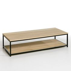table basse vintage double plateau jimi la redoute interieurs la redoute mobile appart. Black Bedroom Furniture Sets. Home Design Ideas