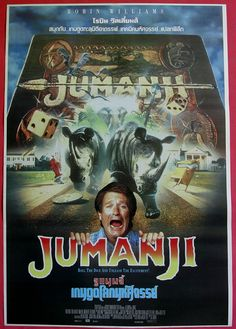 Robin Williams movie posters | ... buy more now warehouse posters jumanji 1995 thai movie poster original